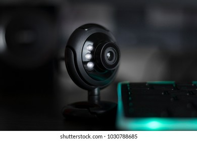 usb web camera with led lights webinar conference call