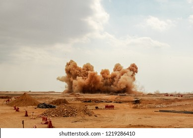 The use of blasting in the mining and construction industry