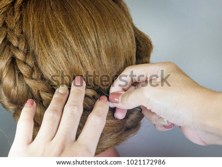 Use Bobby Pin Decorate Hair Background Stock Photo Edit Now