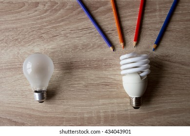 use fluorescent lightbulb
