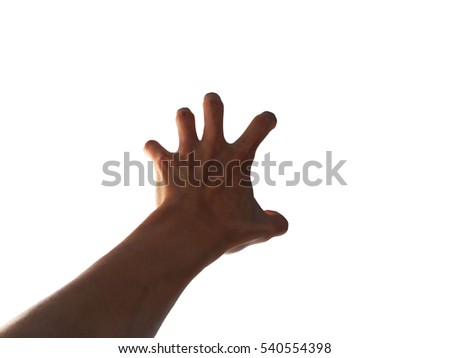 Use Hand Gestures Grab Catch Maul Stock Photo (Edit Now