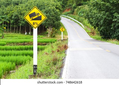 Use Low Gear Sign with Mountain Background.
