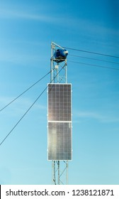 use of solar power, two large solar panels used for the engine