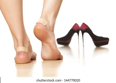 use of sticky plasters due to tight footwear
