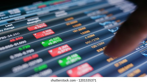 Use of tablet for check stock market