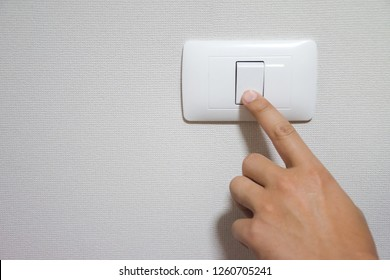 Use your finger to turn on/off the power switch the room. To save electricity.