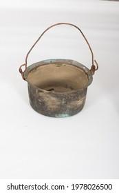 used antique old tableware steel