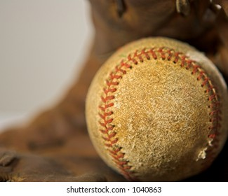 Used Ball and Glove