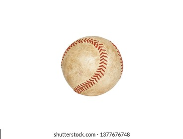 Used baseball isolated on white