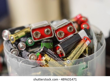 Used battery / Electronic waste concept