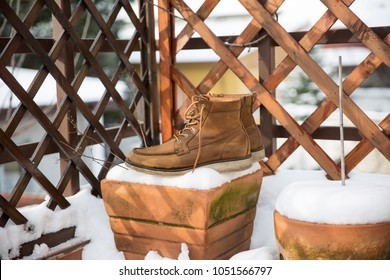 used boots in snow