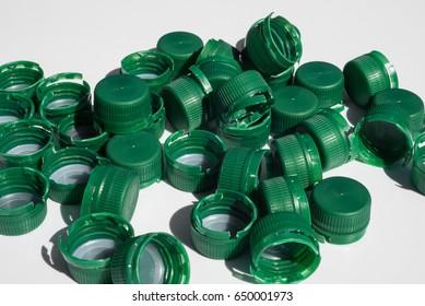 used bottle closures made of High-Density-Polyethylen (HD-PE)