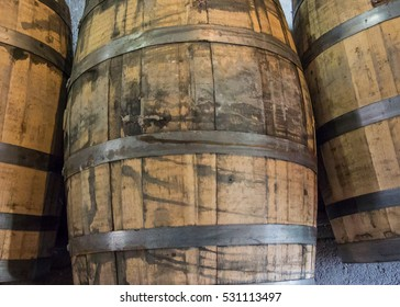 Used Bourbon Barrels after aging bourbon whiskey