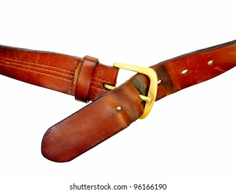 used broun leather belt