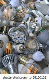 used burnt bad led bulbs