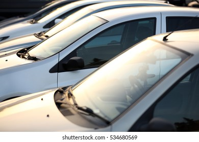 Used Car Dealership Cars In A Row