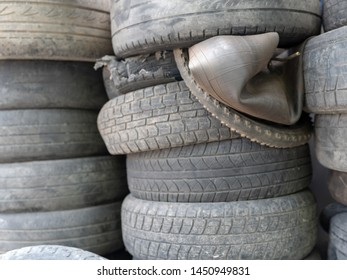 Used car tires, problems with recycling throughout the world and Russia
