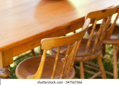 Used dining table for sale at flea market