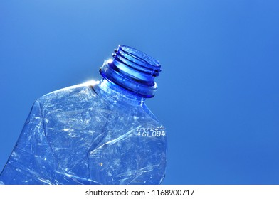Used empty plastic bottle in environment