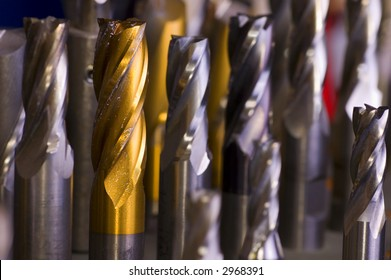 Used end-mills back in their place waiting for a new job