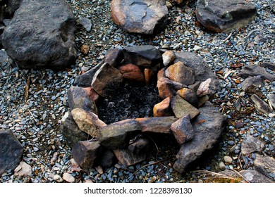 A Used Firepit on the Beach