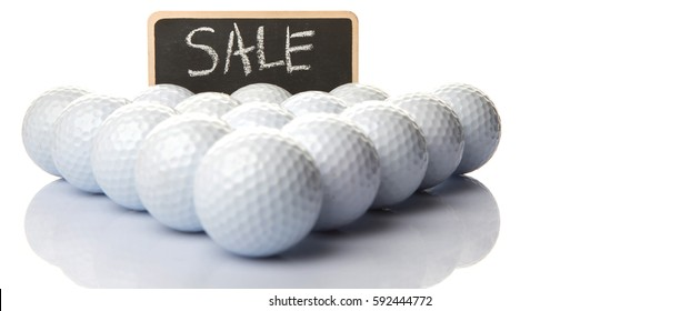 Used Golf Balls Sale Text On Stock Photo Edit Now 592444784