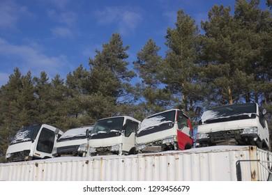 Used japan truck cabins, car parts for sale, junkyard
