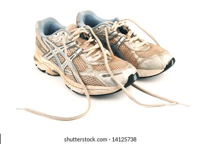 Used jogging shoes