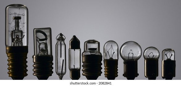 used light bulb composite - nonet