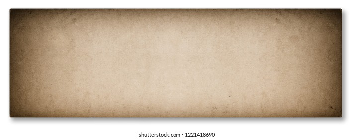 Used news paper texture with vignette isolated on white background