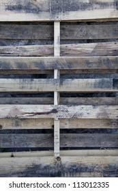 Used pallet closeup