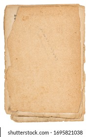 Used paper sheets. Old stained cardboard texture background