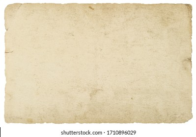 Used paper texture. Old cardboard isolated on white background