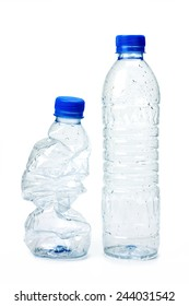 Used plastic bottle for recycling.