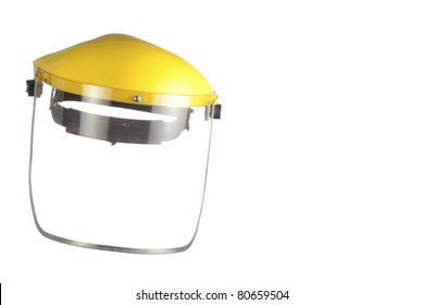 A Used Safety Face Shield