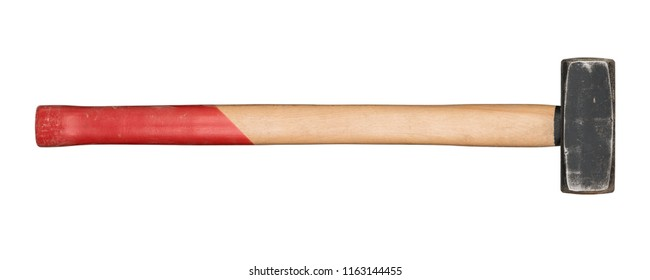 Used sledgehammer isolated on white background