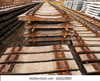 Imágenes, fotos de stock y vectores sobre Stack of Railroad Ties