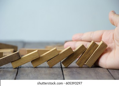 Used to stop the dominoes do not fall /  concepts of risk and business failure.