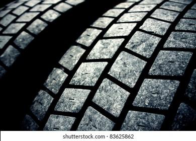 used  tires dark background