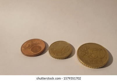 Used and Visibly dented euro cents