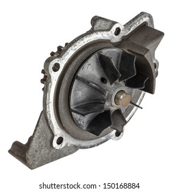 Used water pump dismounted from the vehicle engine cooling system