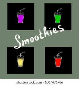 Useful delicious berry smoothie assorted