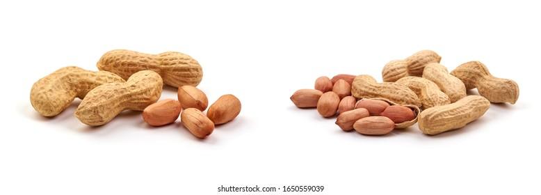 Useful peanut, isolated on white background.