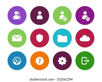 User Account circle icons on white background. See also vector version.