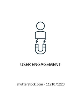 User Engagement line icon. Simple element illustration. User Engagement symbol design from Social Media Marketing collection. Can be used in web and mobile.