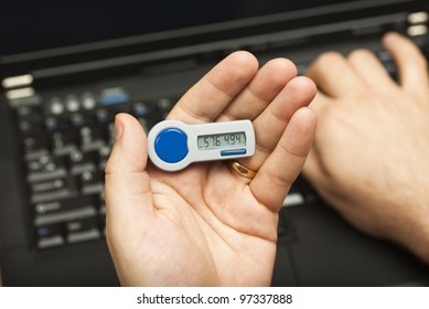 A user enters a second factor authentication password at log on
