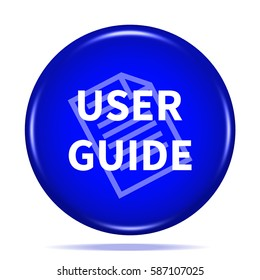 User guide icon. Internet button .3d illustration.