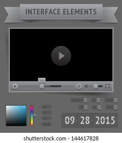 User interface elements. Raster version.