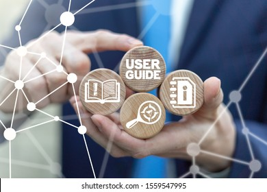 User Manual Guide Business Service Communication Internet Technology Concept.