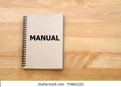 User manual or Instruction manual book on wooden desk